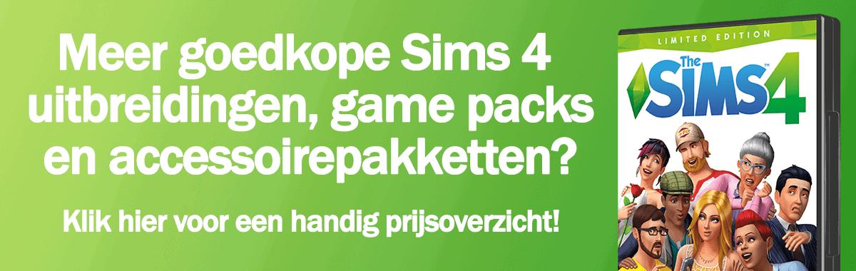 Koop en download Sims 4 basisspellen, uitbreidingspakketten, game packs en accessoirepakketten