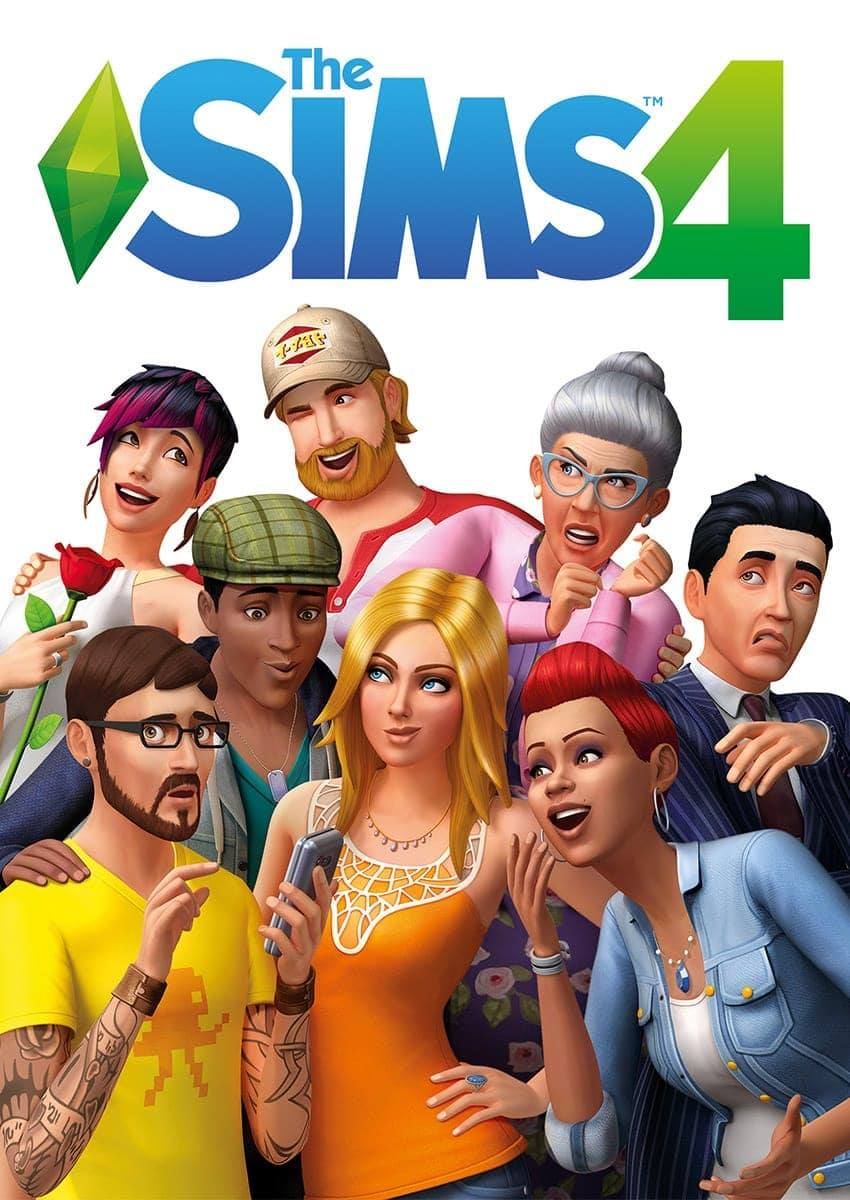 Sims 4 hoes (box art)