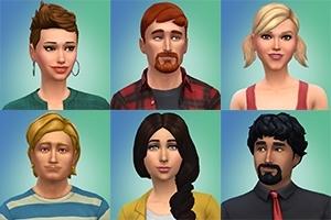 Gratis avatars van mannen en vrouwen uit Sims 4