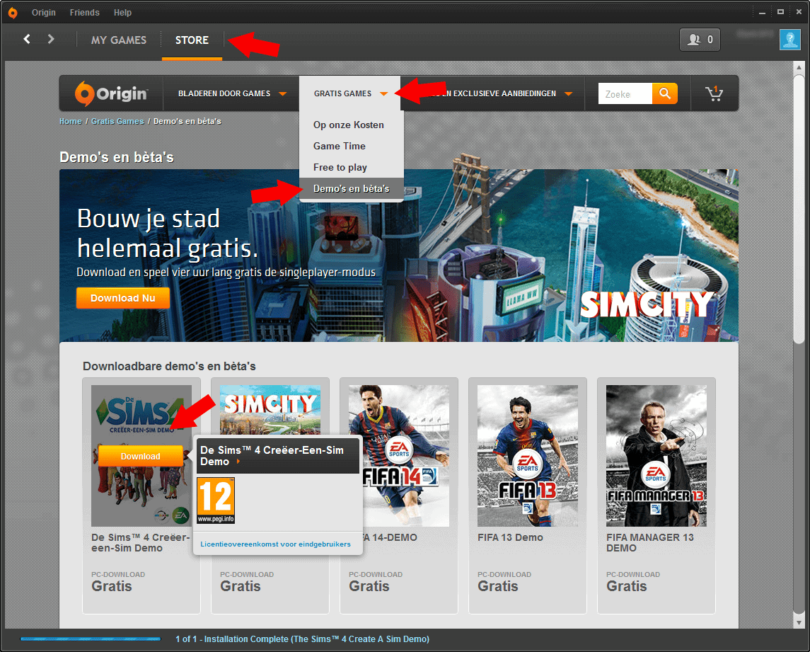 Sims 4 demo download
