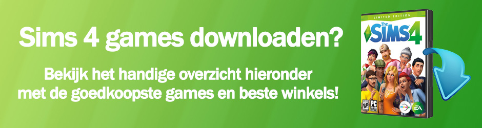 Download je favoriete Sims 4 games, check het prijsoverzicht