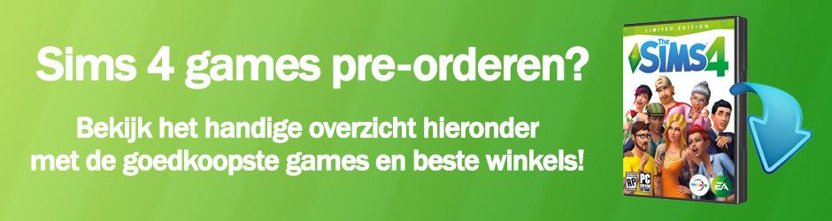 Pre-order je favoriete Sims 4 games goedkoop