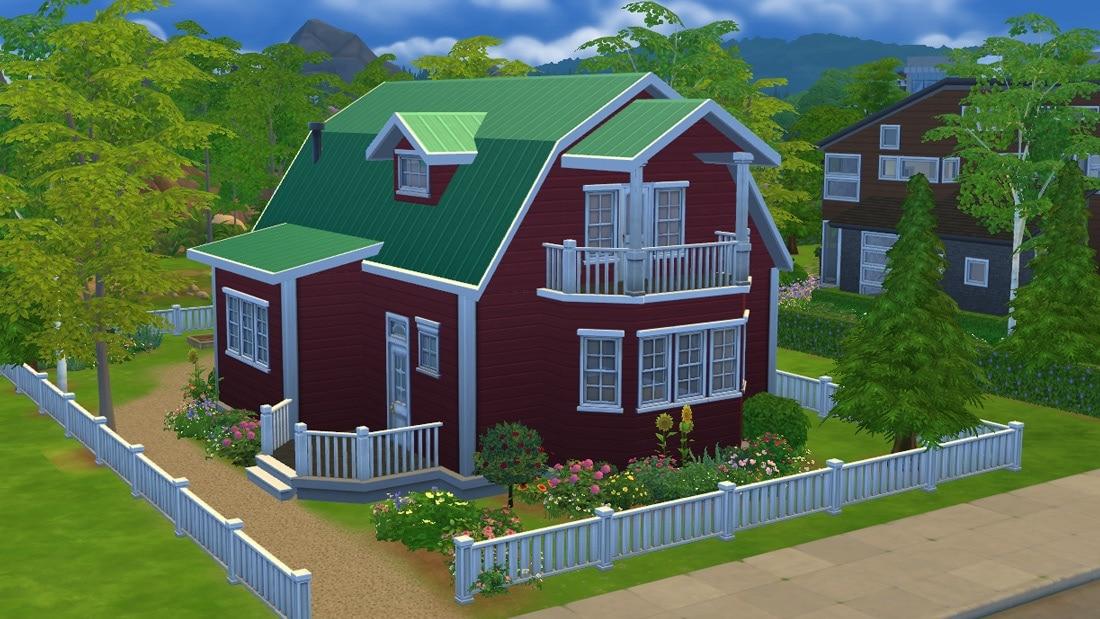 Sims 4 huis - Stuga Leksand 1