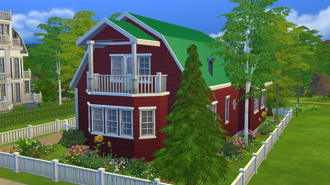 Sims 4 download huis stuga leksand sims 4 for Inspiratie huizen