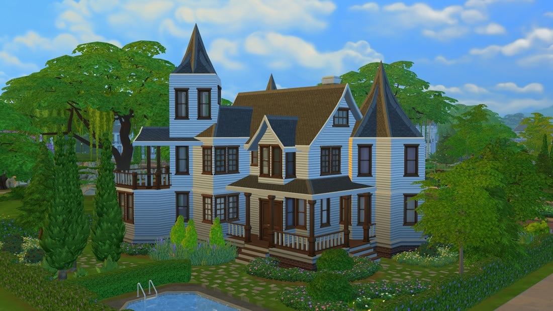 Sims 4 huis - Villa Nordfjord 1