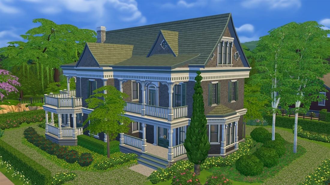 Sims 4 huis - Villa Victoria 1