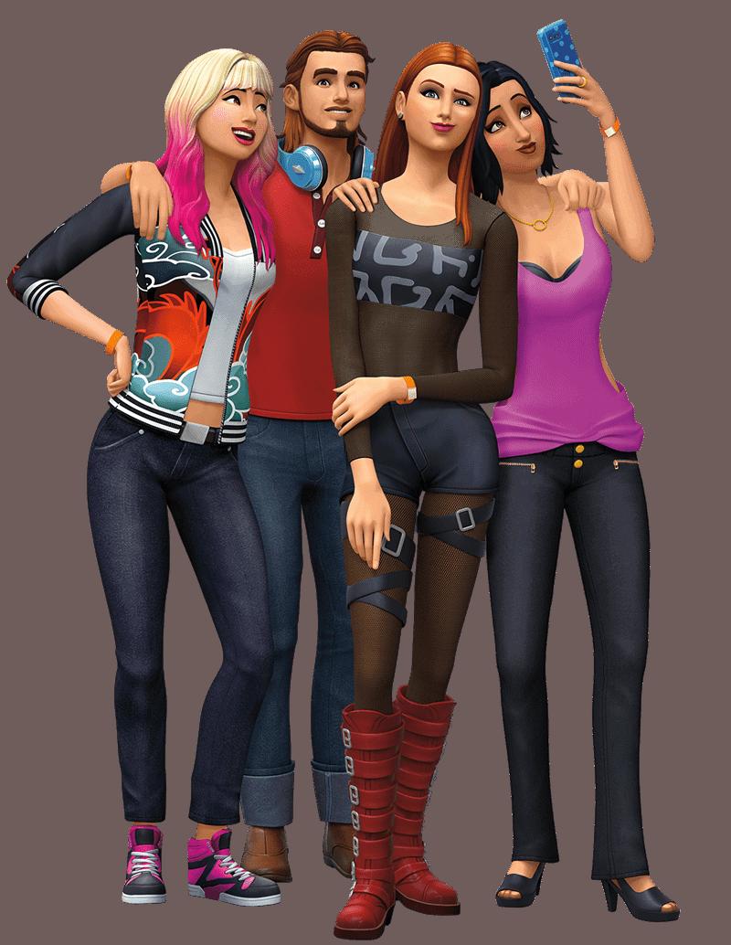 Artwork van uitbreidingspakket De Sims 4 Beleef het Samen