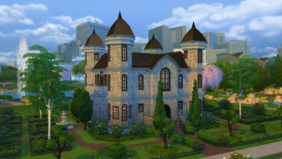 Sims 4 huis - Kingston Castle 1
