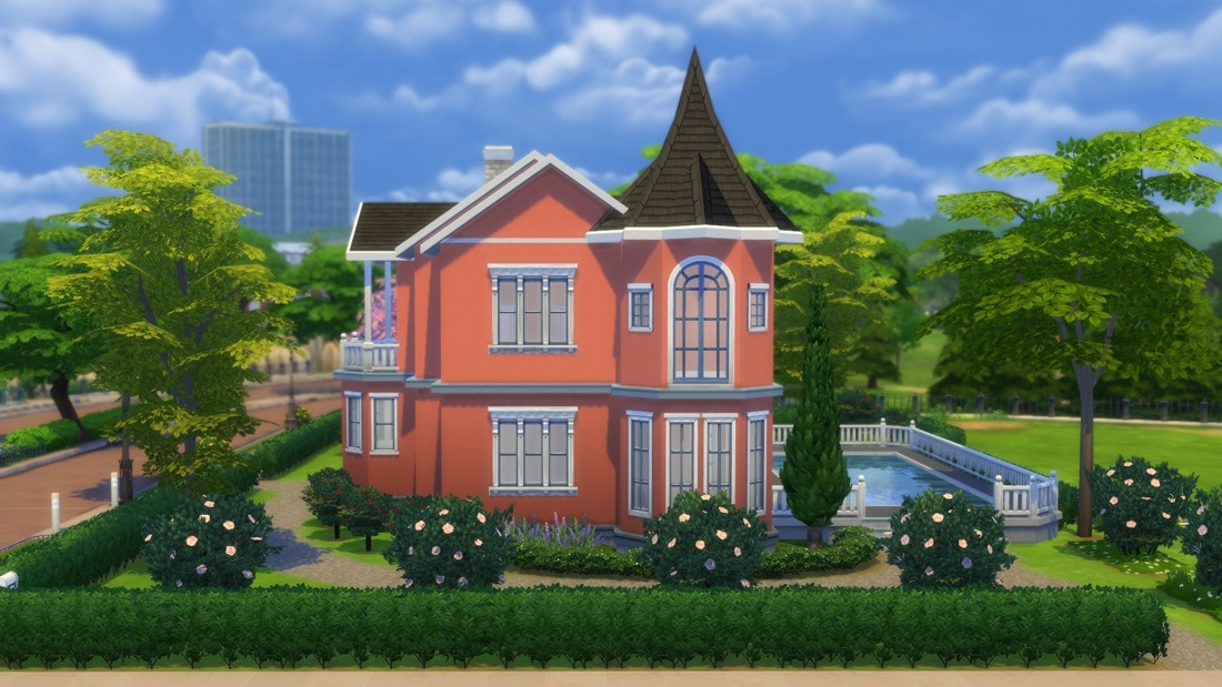 Sims 4 download huis villa rosebacken sims 4 for Inspiratie huizen
