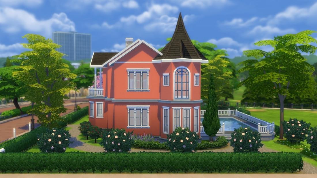 Sims 4 huis - Villa Rosebacken 1