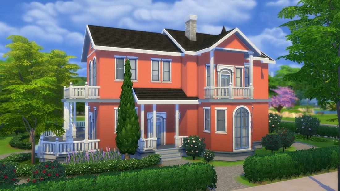 Sims 4 download: Huis Villa Rosebacken : Sims 4