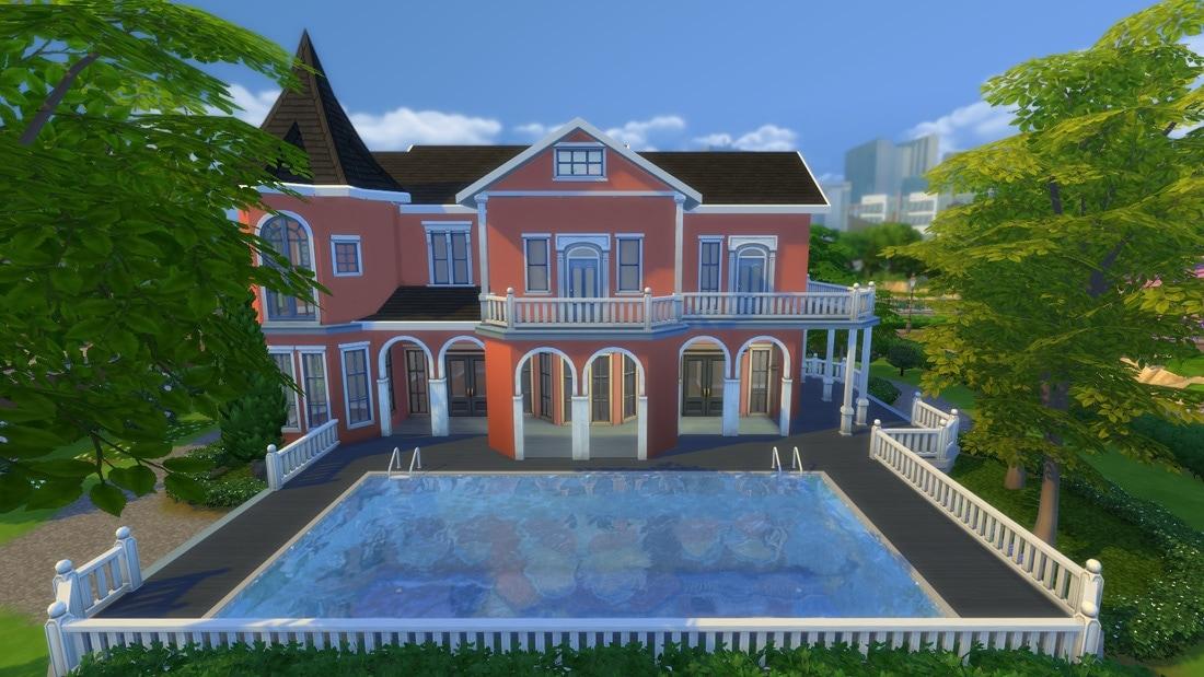 Sims 4 huis - Villa Rosebacken 4