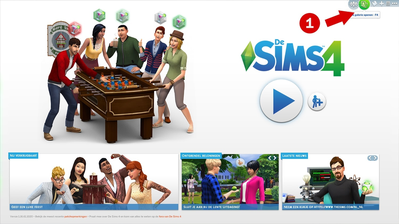 sims 4 tutorial huizen downloaden via de sims 4 galerie. Black Bedroom Furniture Sets. Home Design Ideas