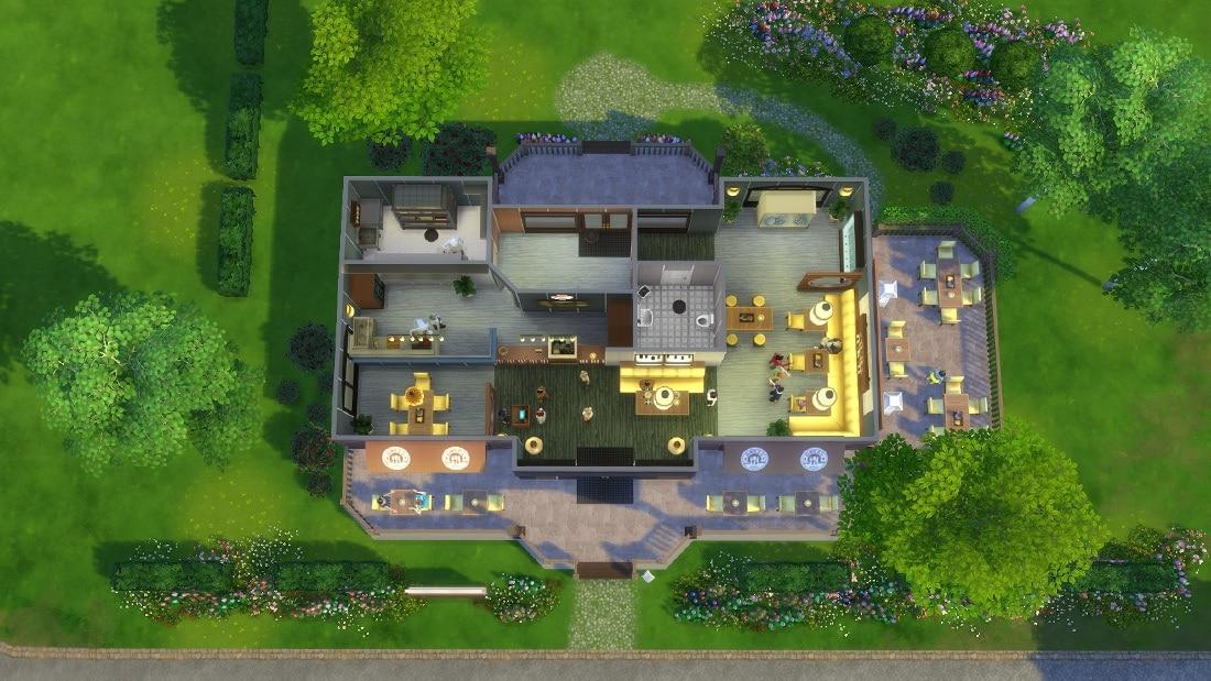 sims 4 download restaurant de parel sims 4. Black Bedroom Furniture Sets. Home Design Ideas