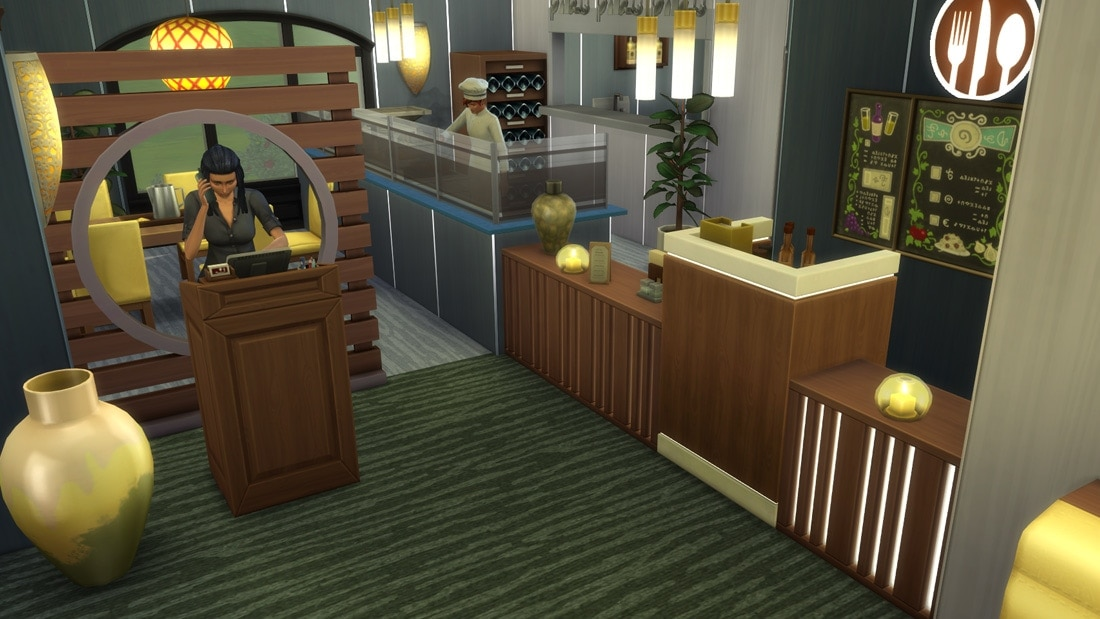 Sims download restaurant de parel