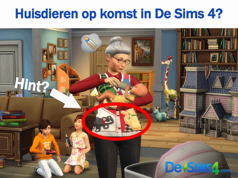 Sims 4 uitbreiding met thema huisdieren, beesten of pets op komst?