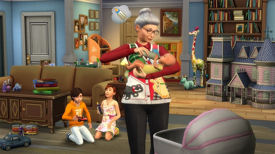 Download de oppas (nanny) via de nieuwe Sims 4 update