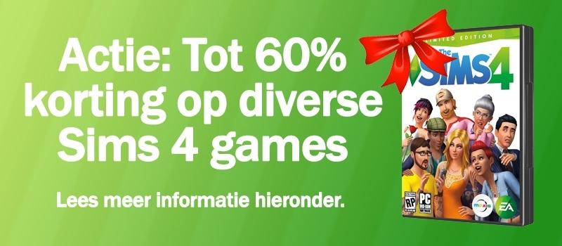 Download/koop Sims 4, Sims 4 Aan het Werk, Sims 4 Beleef het Samen, Sims 4 In de Natuur, Sims 4 Wellnessdag en Sims 4 Uit Eten, actie augustus