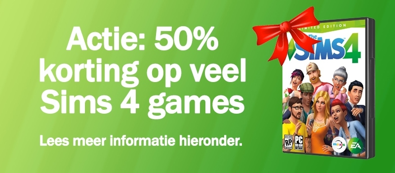 Download/koop Sims 4 basisspellen, uitbreidingspakketten, game packs en accessoirepakketten, actie september