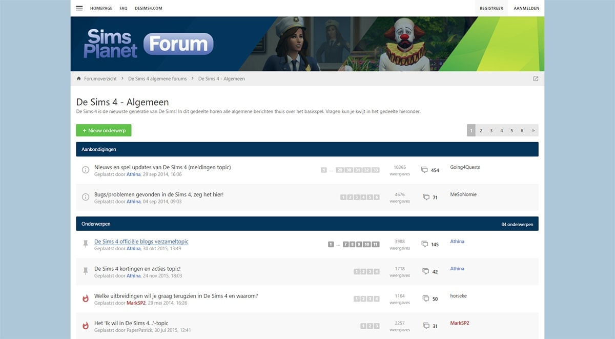Sims forum, Sims 4 forum