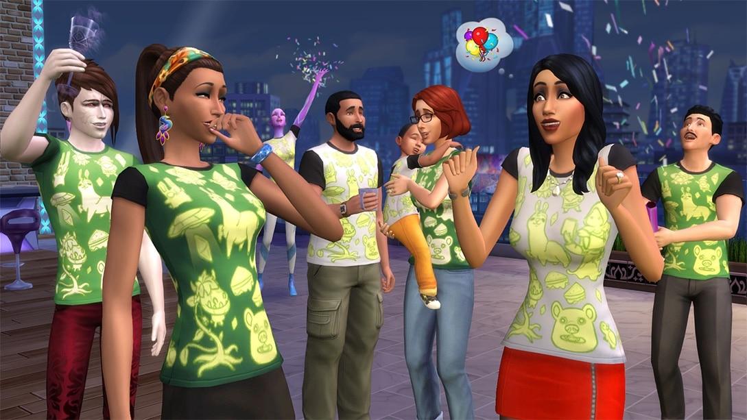 Vier het 17-jarig bestaan van De Sims
