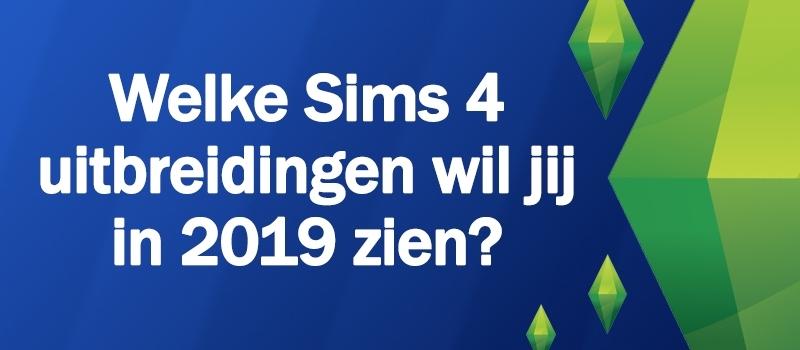 Welke uitbreidingen verschijnen er in 2019 voor De Sims 4?