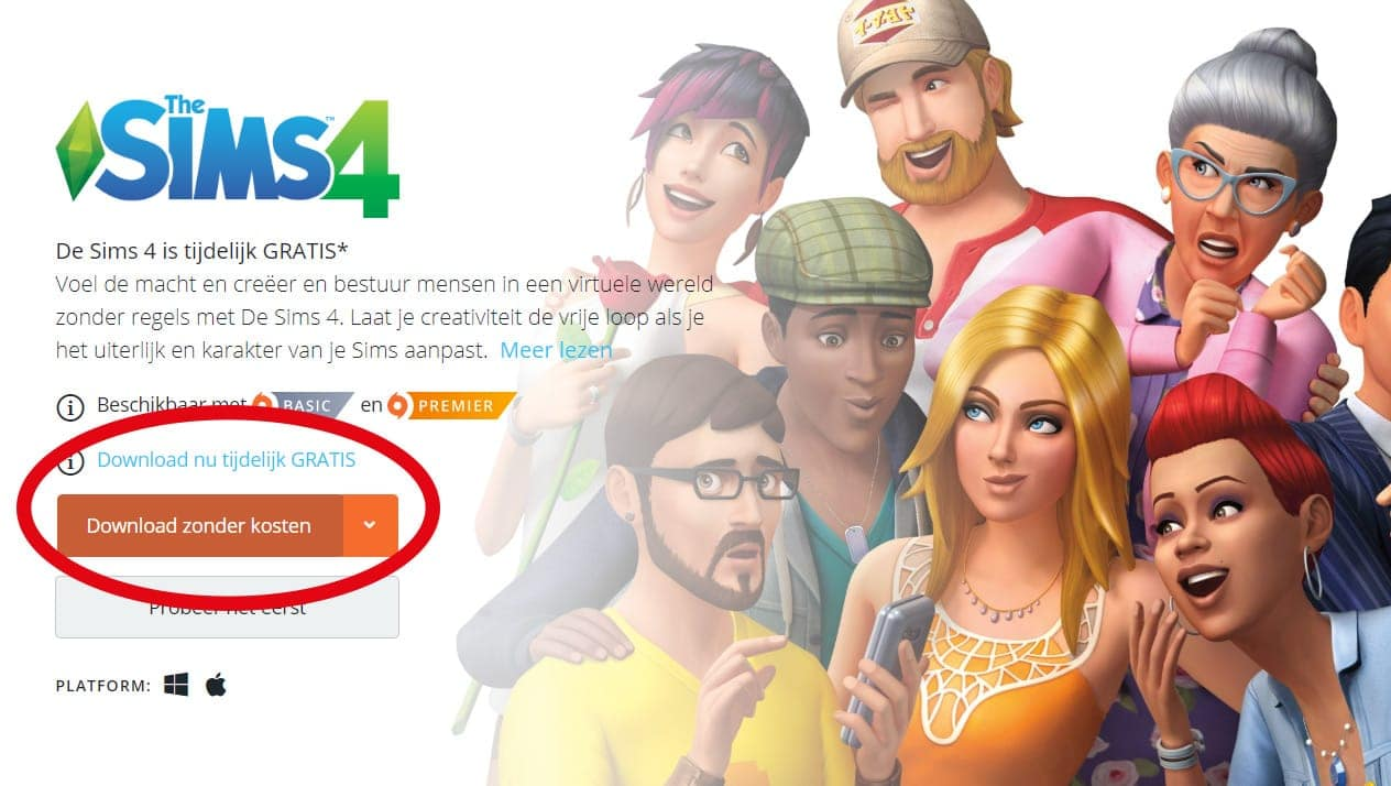 Download De Sims 4 gratis