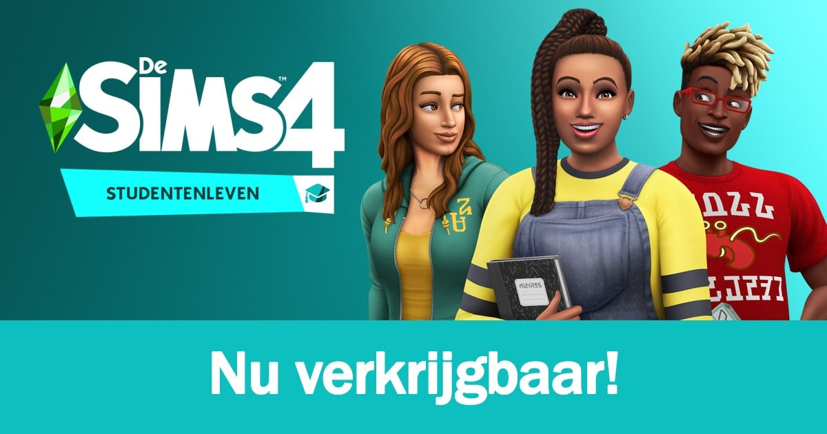 Game Pack De Sims 4 Studentenleven is nu verkrijgbaar, download het spel hier