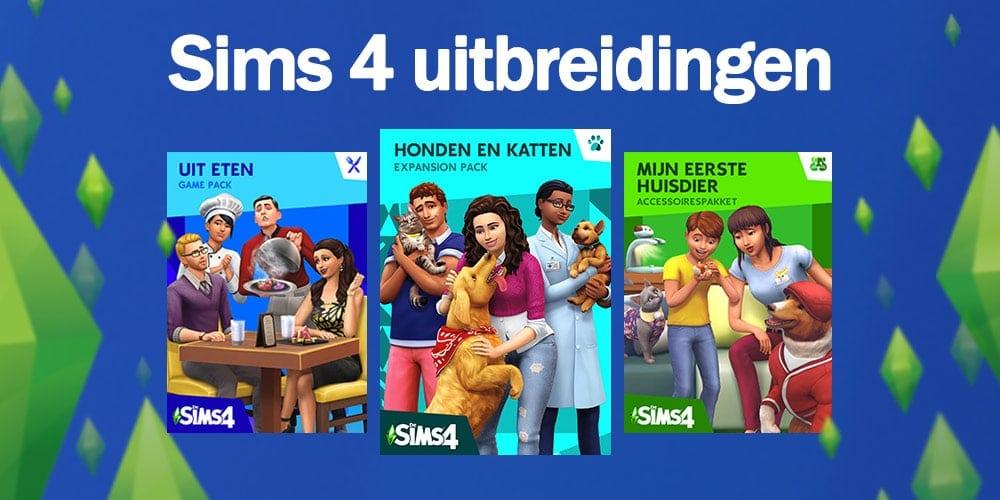 Sims 4 uitbreidingspakketten, game packs en accessoirepakketten