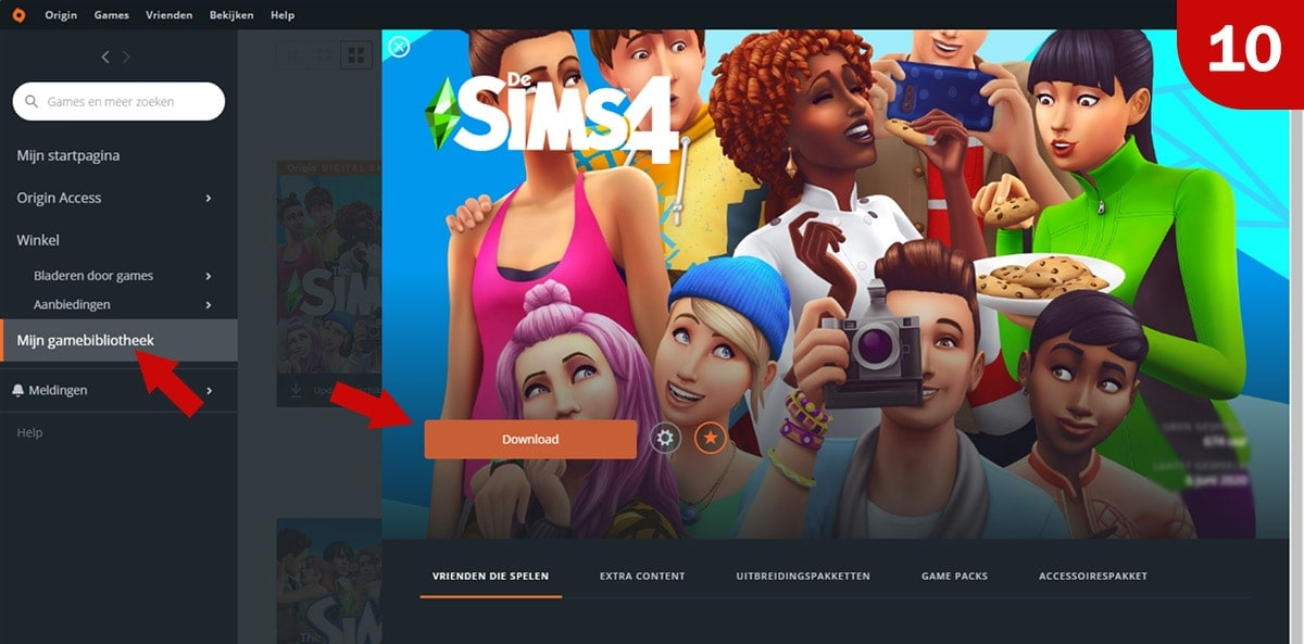 Download Sims 4 games bij MMOGA - Stap 10