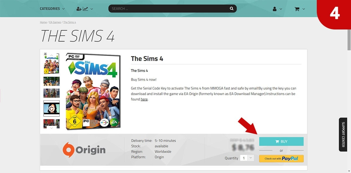Download Sims 4 games bij MMOGA - Stap 4