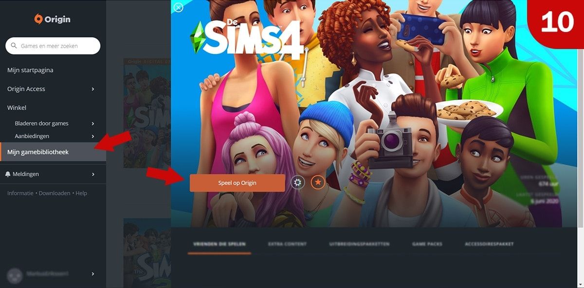 Download Sims 4 games bij Origin - Stap 10