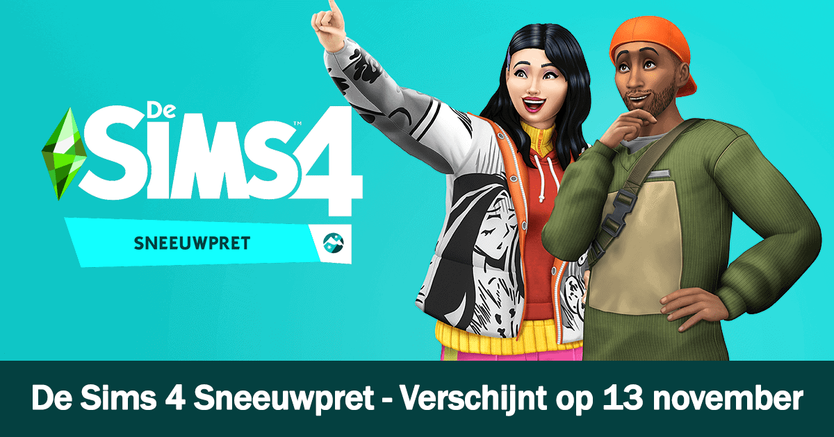 De Sims 4 Sneeuwpret Facebook banner