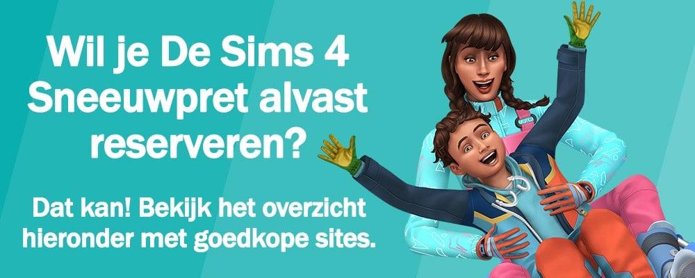 Pre-order Sims 4 Sneeuwpret nu zodat je het spel op 13 november kunt downloaden en spelen