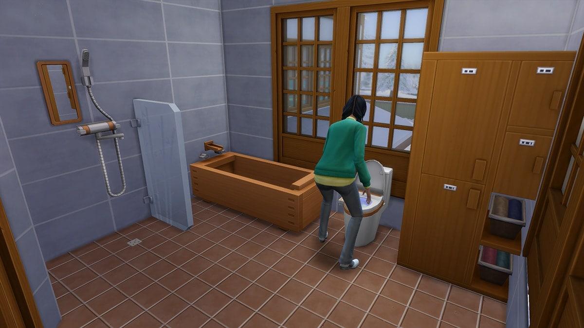 Nieuwe badkamermeubels in de koopmodus