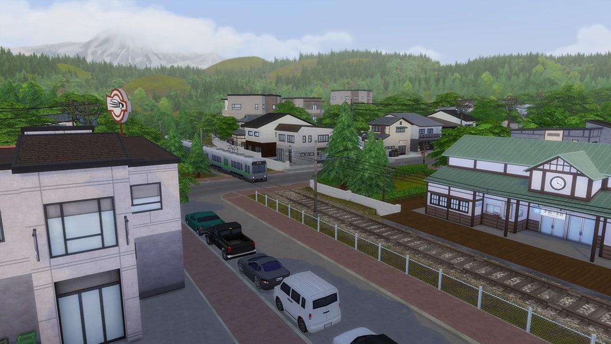 Het treinstation van Wakaba, wat er voor de sier staat